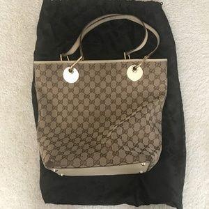 Authentic Gucci Shoulder Bag in Canvas